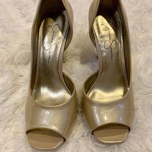 Jessica Simpson peep toe heels size 6.5